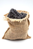 Bag of charcoal Stock Images