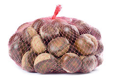 Bag of Chestnuts Stock Photos