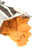 Bag of chips Royalty Free Stock Photos