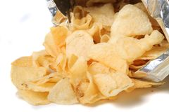 Bag of chips Stock Images