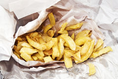Bag of chips. In paper stock photo