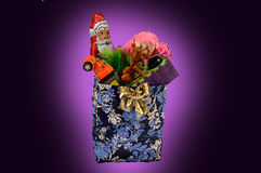 A bag with Christmas toys Stock Image