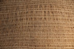 Bag close up for background. Texture of coarse cloth of natural color for background royalty free stock images