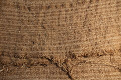 Bag close up for background. Texture of coarse cloth of natural color for background royalty free stock photos