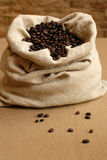 Bag of coffe. On the desk Royalty Free Stock Images