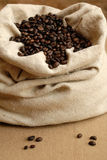 Bag of coffe Royalty Free Stock Image