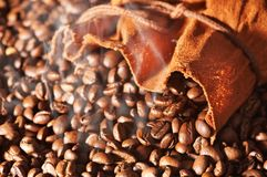 Bag of coffee Stock Image