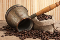 Bag of coffee beans Stock Image