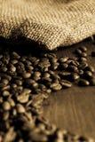 Bag of coffee-beans Stock Photos