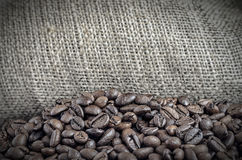 Bag of coffee beans Royalty Free Stock Image