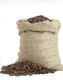 Bag of coffee beans Stock Images