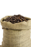 Bag of coffee beans Royalty Free Stock Images