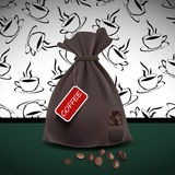 Bag of coffee. Vector illustration Stock Images