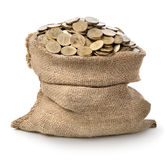 Bag with coins Stock Photography