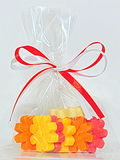 Bag of colorful chocolate candy Royalty Free Stock Images