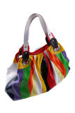 Bag from colour rags Stock Images