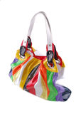 Bag from colour rags Royalty Free Stock Photo