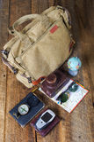 Bag with contents Stock Image