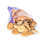 Bag of cookies Stock Image