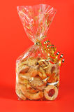 Bag of Cookies. Some beautiful homemade Christmas cookies stock photography
