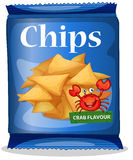 Bag of corn chips crab flavor Stock Photography