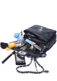 Bag with cosmetics Royalty Free Stock Images