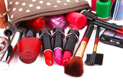 Bag with cosmetics Stock Photo