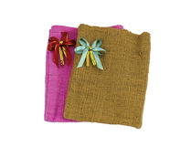 Bag of cotton cloth Royalty Free Stock Photo