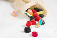 Bag of delicious candy Royalty Free Stock Photos