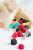 Bag of delicious candy Royalty Free Stock Photography