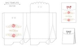 Bag design die-stamping Royalty Free Stock Photos