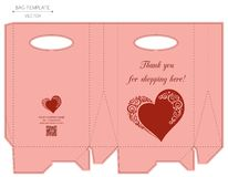 Bag design, die-stamping Stock Images