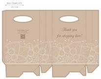 Bag design, die-stamping Royalty Free Stock Photos
