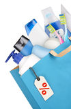 Bag with detergents Royalty Free Stock Photo