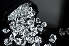 Bag of diamonds Royalty Free Stock Photography