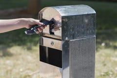 Bag dispenser. Royalty Free Stock Photography