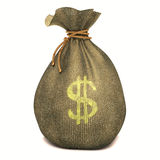Bag Dollar Royalty Free Stock Photography