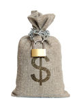 Bag with dollars. Stock Images