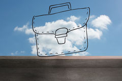 Bag drawn on sky Royalty Free Stock Photo