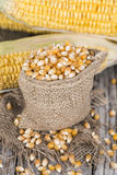 Bag with dried Sweetcorn Royalty Free Stock Image