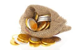Dutch chocolate guilders coins for Sinterklaas Stock Photos