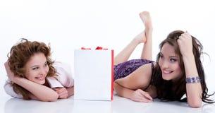 bag emotional paper women young Стоковые Изображения RF