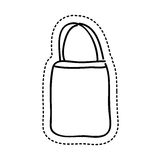 Bag female drawing icon Stock Photos