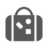 Bag flat icon for traveling. Flat icon of travaling bag vector illustration EPS10 Stock Photo