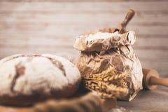 Bag of flour stock photo