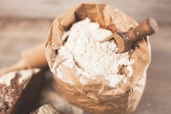 Bag of flour royalty free stock images