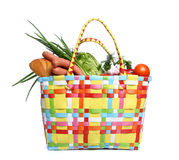 The bag with food Stock Photos