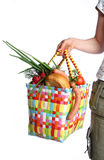 The bag with food. The full bag with different food Stock Photography
