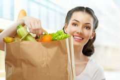 Bag of food Stock Photo