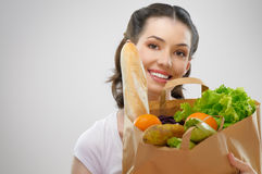 Bag of food Royalty Free Stock Photography